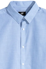 Easy-iron shirt Slim fit - Blue/Chambray - Men | H&M GB 3